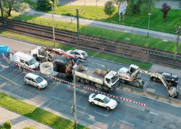 Nadzór budowy wodociągu przy ul Wadowickiej w Krakowie